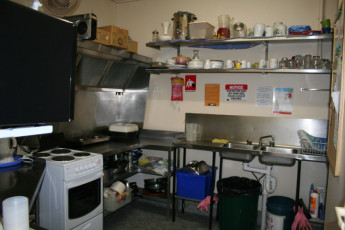 Tamworth YHA : Kitchen in the Tamworth YHA in Australia