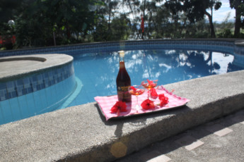 Rio Grande De Laoag Resort Hotel : Having a Drink by the Pool in Rio Grande De Laoag Resort Hotel Hostel, Philippines