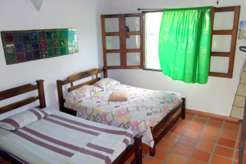 Santa Marta - The Dreamer Hostel : Triple room at the Santa Marta - The Dreamer Hostel in Columbia