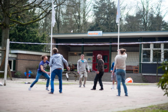 Stayokay Apeldoorn : Badminton Court at Stayokay Apeldoorn Hostel, Netherlands
