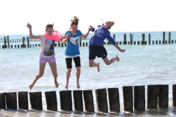 Zingst : Guests Having Fun at the Beach Local to Zingst Hostel, Germany