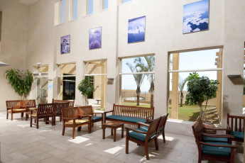 Dead Sea - Massada : Lobby at the Dead Sea - Massada hostel in Israel