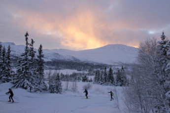 Gaustatoppen Hostel : Local Landscape During the Snow at Gaustatoppen Vandrerhjem Hostel, Norway