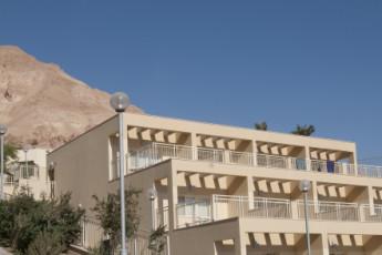 Ein Gedi : exterior de la Ein Gedi hostal en Israel