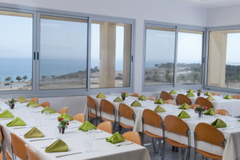 Ein Gedi : Dining room in the Ein Gedi hostel in Israel