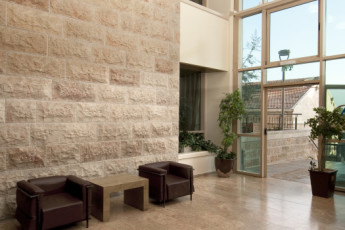 Jerusalem - Agron : Entrance lobby to the Jerusalem - Agron hostel in Israel