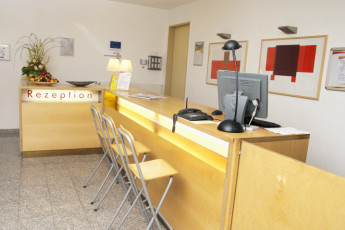 Meppen : Hostel reception desk in Meppen, Germany