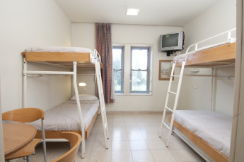 Jerusalem -Yitzhak Rabin : Dorm room at the Jerusalem -Yitzhak Rabin hostel in Israel