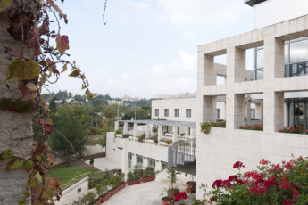 Jerusalem -Yitzhak Rabin : Exterior view over the Jerusalem -Yitzhak Rabin hostel in Israel