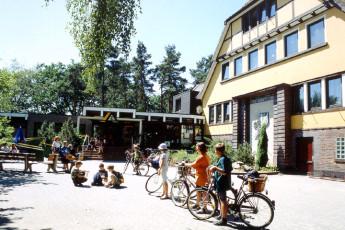 "Hankensbüttel : exterior view of ""Hankensbüttel""hostel, Germany and patio area"