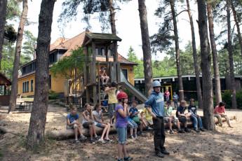 "Hankensbüttel : playground at ""Hankensbüttel""hostel, Germany and patio area"