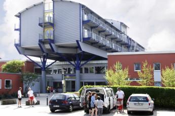 Hannover : vista exterior de Hanover, Alemania hostal