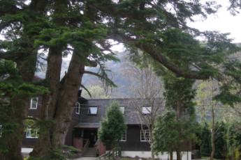 Glen Nevis SYHA : Exterior of the Glen Nevis SYHA hostel in Scotland