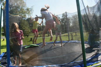 Laarne - De Valk : Laarne De Valk trampoline