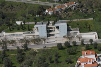 Abrantes : Aerial view of the Abrantes hostel in Portugal