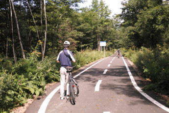 Sounkyo Youth Hostel : Cycle Track Local to Sounkyo Youth Hostel, Japan
