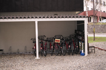 Sounkyo Youth Hostel : Bicycle Storage at Sounkyo Youth Hostel, Japan