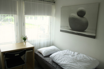 Stavanger Mosvangen : Twin room at the Stavanger Mosvangen hostel in Norway