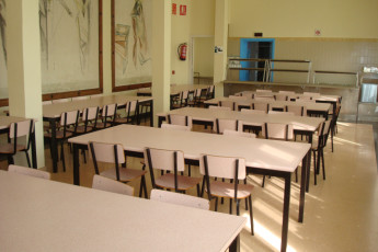Cristo de Otadia : Dining room in the Alsasua hostel in Spain