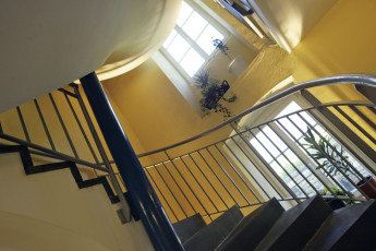 Bourglinster : Staircase in Bourglinster Hostel, Luxembourg
