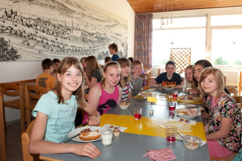Silberborn : Dining in Silberborn Hostel, Germany