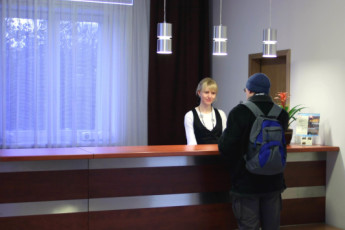 Warsaw - Karolkowa : Reception Desk in Warsaw - Karolkowa Hostel, Poland