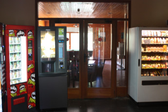 Planoles - Pere Figuera : Vending machines in lounge at the Planoles - Pere Figuera in Spain