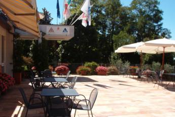 Bergamo - Nuovo Ostello di Bergamo : Terrace at Bergamo - Nuovo Ostello di Bergamo, Italy