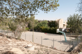 Arad : Basketball court in the Arad hostel in Israel