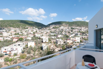 Peki'in : View from balcony at the Pekiin hostel in Israel
