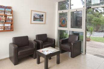 Ma'ayan Harod : Reception lobby in the Maayan Harod hostel in Israel
