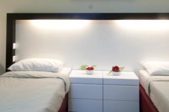 Ma'ayan Harod : Twin room in the Maayan Harod hostel in Israel