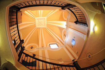 Zaragoza - La posada del Comendador : Interior Feature of Staircase in Zaragoza - La posada del Comendador Hostel, Spain