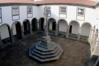 Azores - Pico Is. - São Roque do Pico : Feature in Courtyard at Azores - Pico Is. - Sao Roque do Pico, Portugal
