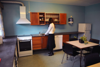 Lista : Kitchen Area in Lista Hostel, Norway