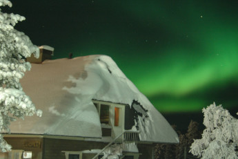 Saariselkä - Hostel Ahopää : Northern lights at the Inari/Kiilopaa - Hostel Ahopaa in Finland