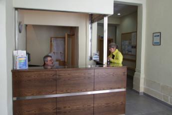 Sliema - NSTS Hibernia Residence : Reception Desk in Sliema - NSTS Hibernia Residence Hostel, Malta
