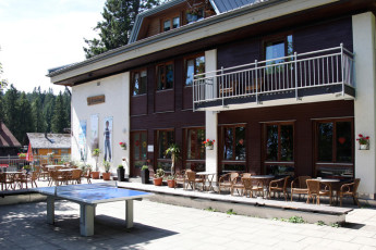 Feldberg/ Schwarzwald : Garden of the Feldberg/Black Forest hostel in Germany
