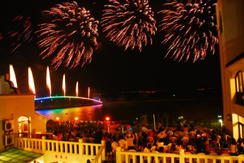 Penghu - YAC International Youth Hostel : Firework Display at Penghu - YAC International Youth Hostel, Taiwan