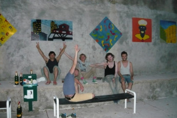 Rijeka - Youth Hostel Rijeka : Guests Relaxing on the Patio at Rijeka - Youth Hostel Rijeka, Croatia