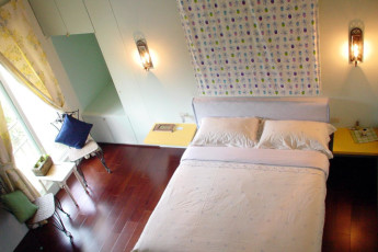 Li Tian Chuang International YH : Double Bedroom in Li Tian Chuang International Youth Hostel, Taiwan