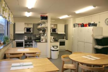 Örebro/Livin' : Kitchen in the Orebro/Livin hostel in Sweden