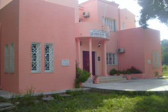 Rimel : Front Exterior View of Rimel Hostel, Tunisia