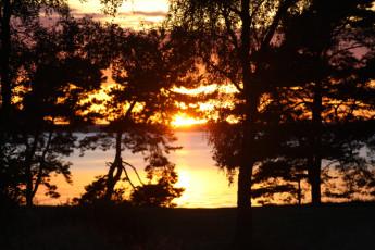 Stora Frögården : Sunset at Stora Frogarden Hostel, Sweden