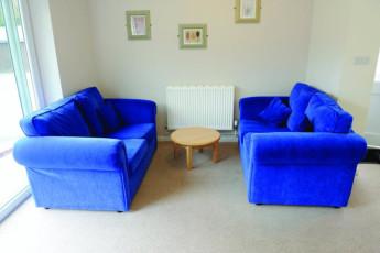 YHA Cheddar : Lounge area in the YHA Cheddar hostel in England