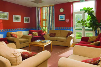 YHA Osmotherley : Lounge in the YHA Osmotherley in England