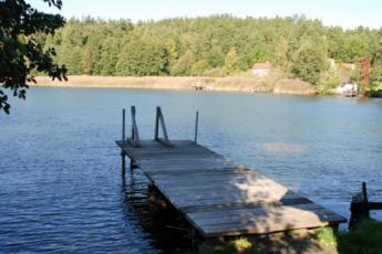 Borensberg/Göta kanal : Lake near the Borensberg/Gota kanal hostel in Sweden