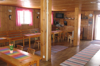 Joutsa - Vaihelan Tila : Dining room in the Joutsa - Vaihelan Tila hostel in Finland