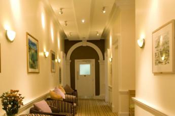 YHA Penzance : Corridor in Penzance Hostel, England