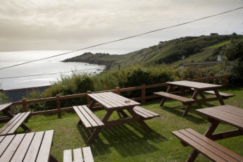 YHA Coverack : View from the YHA Coverack in England